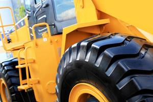 grote gele bulldozer foto
