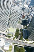 japan tokyo shinjuku stadsgezicht foto
