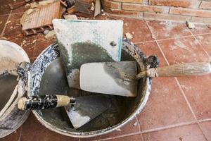 gebruiksvoorwerpen van albañileria foto