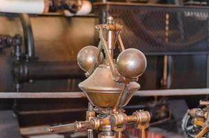 detail van een stoommachine.