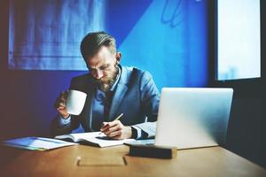 zakenman werken planning strategie office concept foto