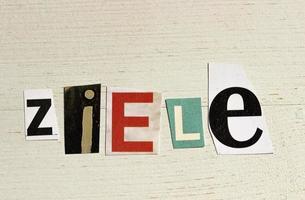 ziele -aims in duits foto