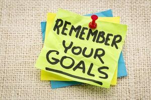 onthoud uw doelen