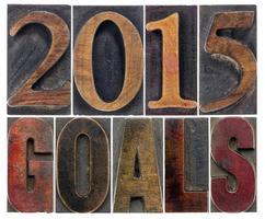 Doelstellingen voor 2015 in houtsoort foto