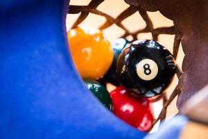 biljartballen in het gat foto