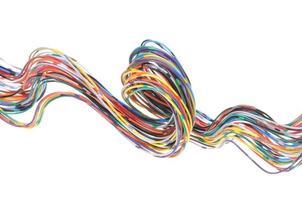 veelkleurige computernetwerkkabel foto