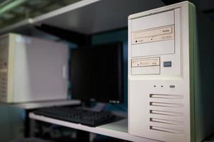 computernetwerkservers in dataroom foto