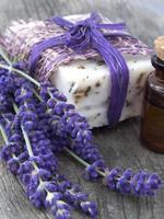 lavendelolie en zeep