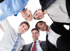 ondernemers naar beneden te kijken foto