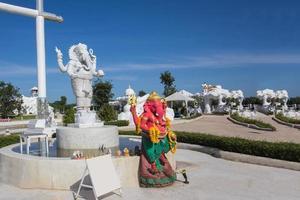 ganesh standbeeld in de provincie khonkaen foto