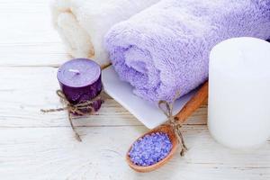 spa-instelling in twee kleuren foto