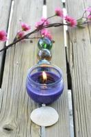 spa kaarsen bloemen foto
