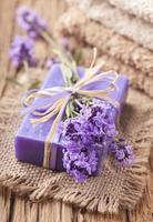 lavendel spa-behandeling foto