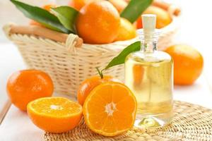 mandarijn etherische olie foto