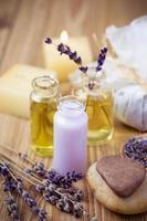 biologische lavendel spa-producten foto