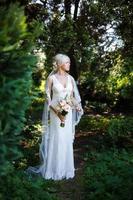 portret van mooie bruid foto