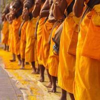 monniken in Thailand foto
