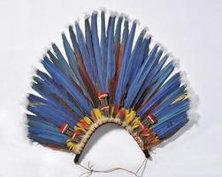 blauwe hoofdtooi foto