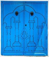blauwe deur als symbool van sidi bou zei foto