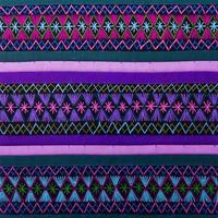 kleurrijke Afrikaanse Peruaanse stijl tapijt oppervlak close-up