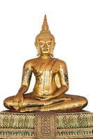 antieke bronzen zittende boeddha foto