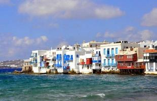 Klein Venetië, eiland Mykonos, Griekenland foto