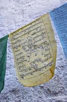 Tibetaanse gebedsvlag foto