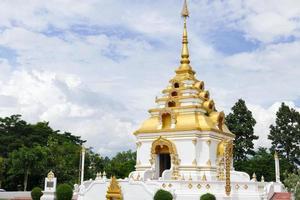 het ontwerp van boeddhistische pagodearchitectuur foto