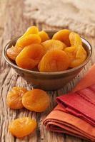 gedroogde abrikozen foto