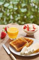 broodtoosts voor het ontbijt foto
