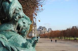 le jardin des tuileries in parijs, frankrijk foto
