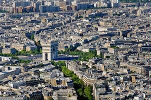 place de l'etoile en arc de triomphe place, paris, frankrijk foto