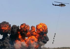 helikopter redding foto