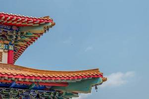 de Chinese tempel met de hemel foto