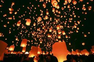 drijvende lantaarn foto