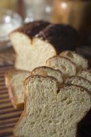 sneetjes glutenvrij brood. foto