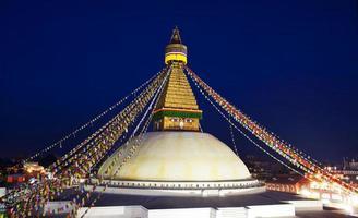 Bouddhanath-stoepa in Kathmandu, Nepal foto
