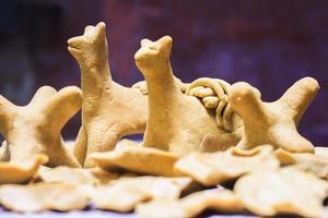 traditionele aymara brood quispina foto