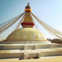 boeddhistische schrijn boudhanath stupa - vintage filter. Kathmandu, Nepal. foto