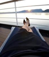 op vakantie, cruise concept foto