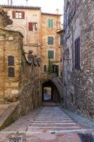 oude stad van Perugia, Umbrië, Italië foto