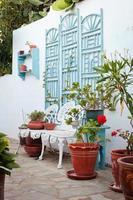 Griekse binnenplaats foto