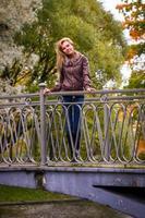 vrouw in park