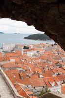 oude stad Dubrovnik in het winterseizoen foto