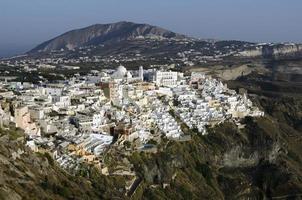 haven en stad van Fira Santorini foto