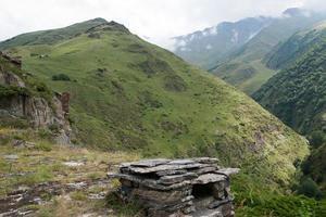 ruïnes van het mutso-dorp foto