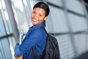 mooie Afro-Amerikaanse student foto