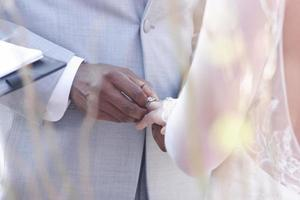 interaciale bruiloft foto