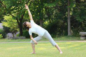 Japanse vrouw training foto
