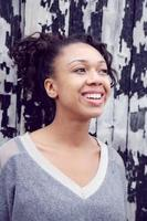 schoonheid van jonge Afro-Amerikaanse vrouw